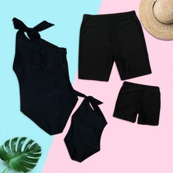 Summer Solid Charm Family Matching Swimsuit
