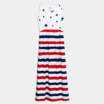 Women's Trendy Print Sleeveless Maxi Maternity Dress