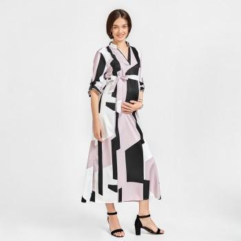 Women's Various Print Long Sleeves Maternity Dress