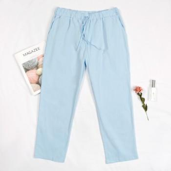 Comfortable Cotton and Linen Pants for Maternity Women