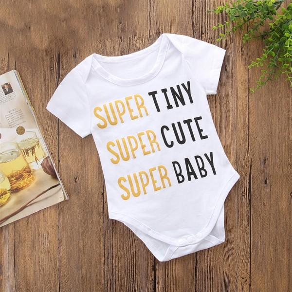 Mommy and Me Stylish Letter Printed Short-sleeve Tee in White