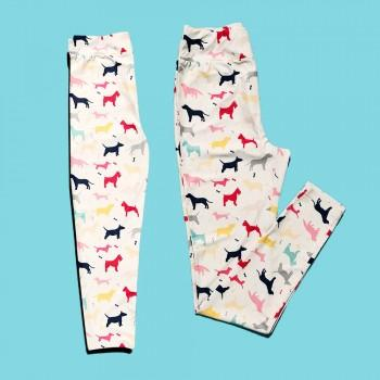 Lovely Puppy Matching Yoga Leggings for Mommy and Me