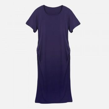 Women's Side Ruched Maternity Dress