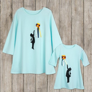 Fashionable Mother & Daughter Matching Tees