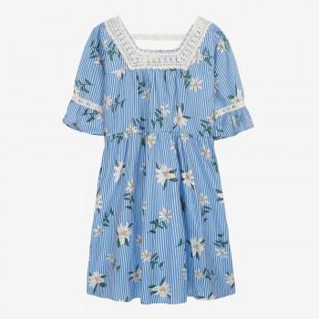 Lace Trim Maternity Dress