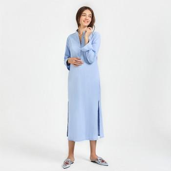Women's Long Sleeve Maxi Maternity Dress
