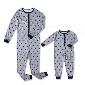 Stars Printed One-piece Pajamas for Mama and Me