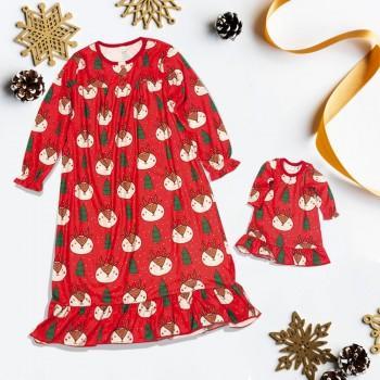 Reindeer Christmas Dress Girl and Doll