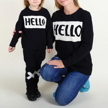 Mommy and Me Pretty Letter printed Long Sleeve T-shirt