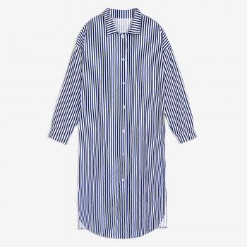 Women's Stripe Maternity Blouse in Blue
