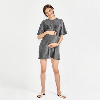 Women's Letter Printing Short-sleeve Dress