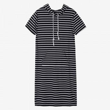 Women's Casual Stripe Hoodie Dress
