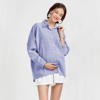 Women's Long Sleeve Stripe Blouse
