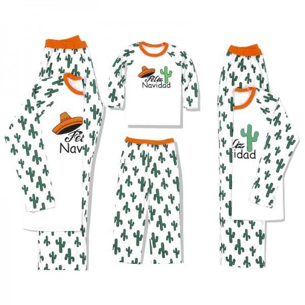 Cactus Patterned Family Matching Pajamas