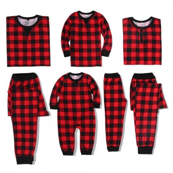 Classic Plaid Pattern Family Christmas Pajamas
