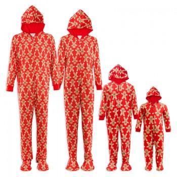 Gingerbread Printed Family Chirstmas Pajamas Set