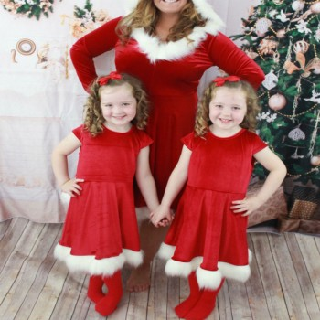 santa claus dress for mommy and me