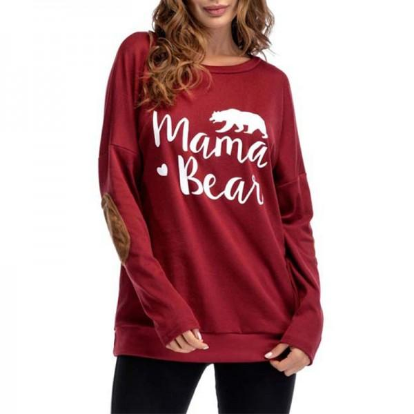 Classic Oversize MAMA BEAR  Long-sleeve Sweatshirt for Women