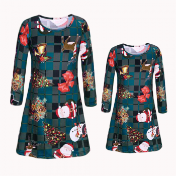 Special Chirstmas Long-sleeve Matching Dress