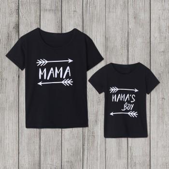 Lovely Arrow letter print Matching T-shirt