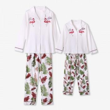 Adorable White Flamingo Matching Pajamas