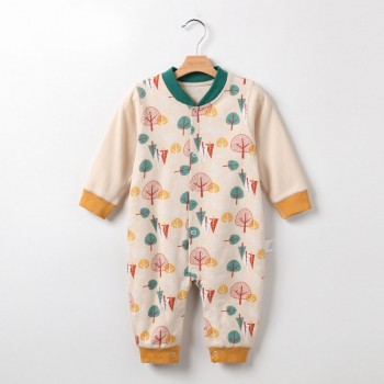 Stylish Trees Print Long Sleeves Jumpsuit for Baby Boys