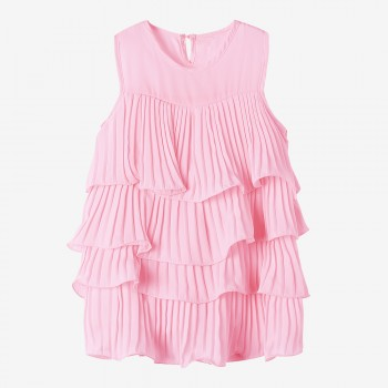 Sweet Ruffle Sleeveless Dress