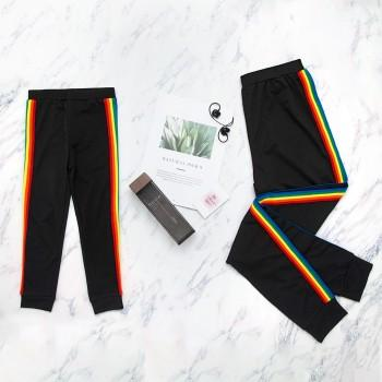 Matching Rainbow Stripes Yoga Pants for Mommy and Me