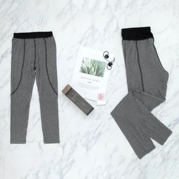 Mommy and Me Stylish Solid Yoga Pants in Dark Grey