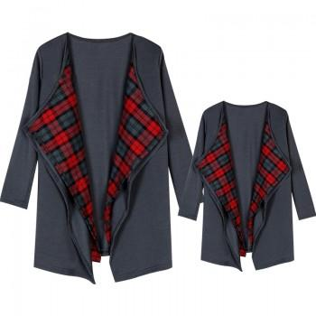 Plaid Thin Matching Cardigan