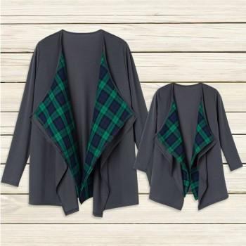 Plaid Thin Matching Cardigan