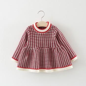 Checkered Knit Dress