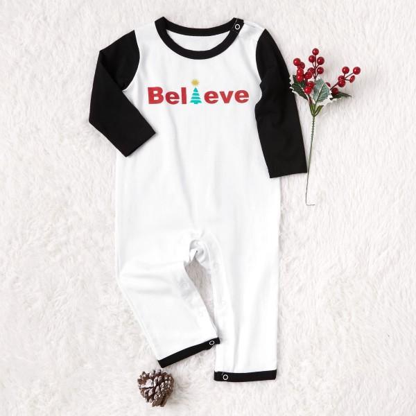 'Believe' Comfy Family Plaid Pajamas