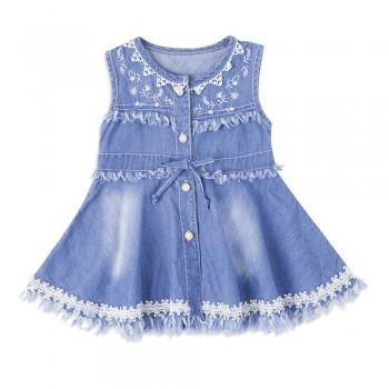 Flower dresses online shopping patpat pretty flower applique sleeveless tassel dress mightylinksfo