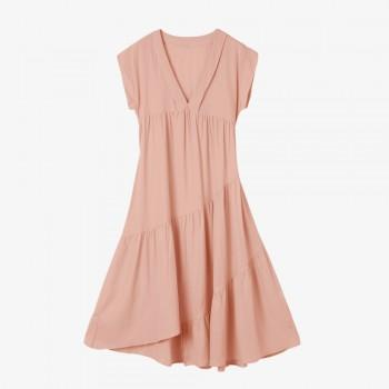 Tiered Maternity Pink Dress