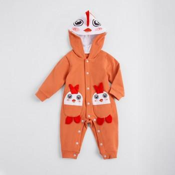 Cute Chicken Style Long Sleeves Hooded Jumpsuit for Baby