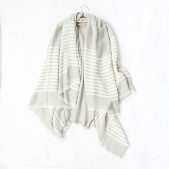 Simple Striped Shawl Scarf