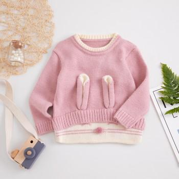 Cute Soft Rabbit Pattern Long Sleeves Sweater