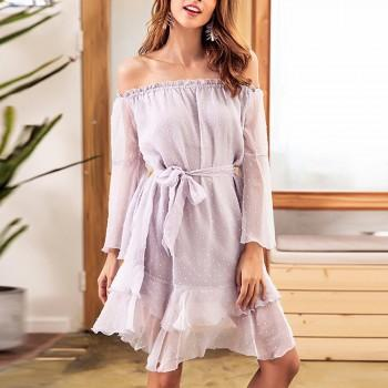 Ruffled Hem Maternity Dress