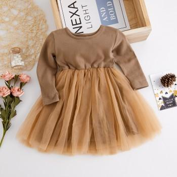 Pretty Long Sleeves Tulle Dress