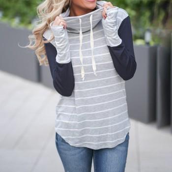 Women Stylish Stripes Sweatershirt
