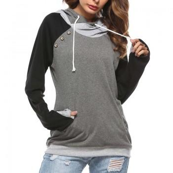 Cool Solid Hoodie for Women