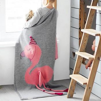 Baby Adorable FLamingo Blanket