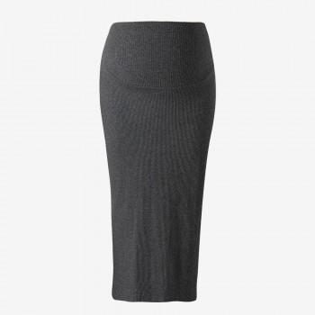 Trendy Solid Maternity Knit Skirt
