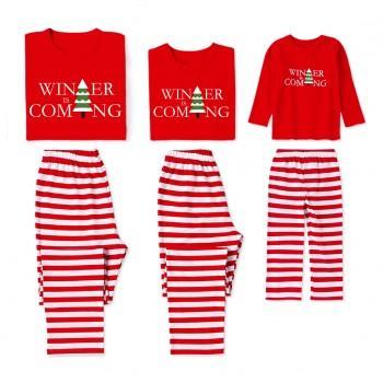 Family Matching Pajamas with Christmas Tree
