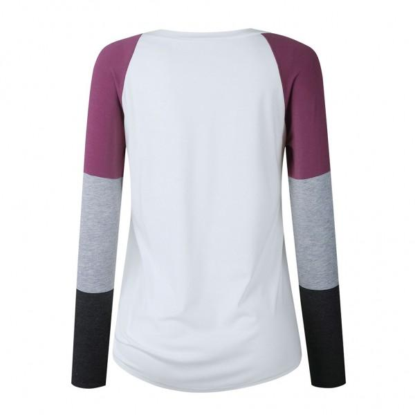 Latest Casual Autumn Long-sleeve Daily Tee For women