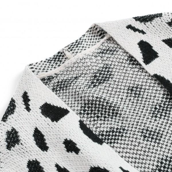 Oversize Leopard Knit Sweater For women