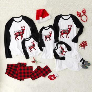 Santa's Deer Christmas Family Pajamas