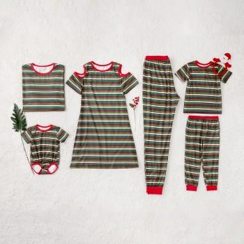 Classic Variegated Stripes Christmas Family matching Set