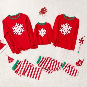 Red Snowflake Family Christmas Pajamas